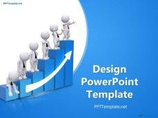 Business Design PowerPoint Template with 3D Chart
