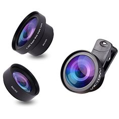 VICTONY 2 In 1 Cell Phone Camera Lens Kit ClipOn Universal Phone Lens 52mm Diameter Lens for iPhone 6  6s Plus  6s  5s Samsung Mobile Phone 045 X Super Wide Angle Lens 125 X Macro Lens *** Check this awesome product by going to the link at the image.Note:It is affiliate link to Amazon.