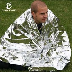 210*130CM 1Piece Silver Climbing Outdoor Survival Kits Rescue Equipment Emergency Survival Tool Hunting Emergency Blanket.