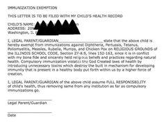 a677c62d8c0ea37bc941cad3d56dd681--letter-example-letters Vaccination Exemption Letter Template on homestead letter, annulment letter, concession letter, objection letter, claim letter, deferral letter, mandate letter,
