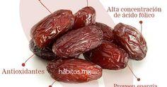 ¡Beneficios de los dátiles! Antioxidantes , fuente de hierro y calcio , efectivo en casos de hipertension , puede usarse como edulcorante . . . | Pinterest | C…