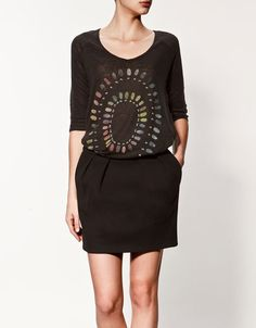 PRINTED LINEN T-SHIRT - T-shirts - Woman - ZARA Canada