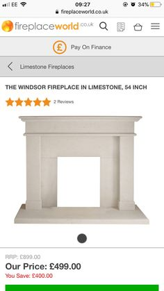 Limestone Fireplace, Fireplaces, Stool, Furniture, Home Decor, Fireplace Set, Fire Places, Decoration Home, Room Decor