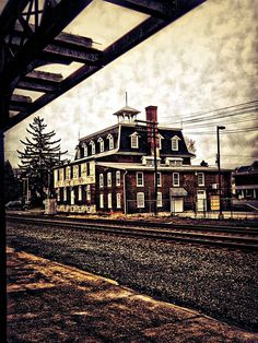 Old hotel across the tracks