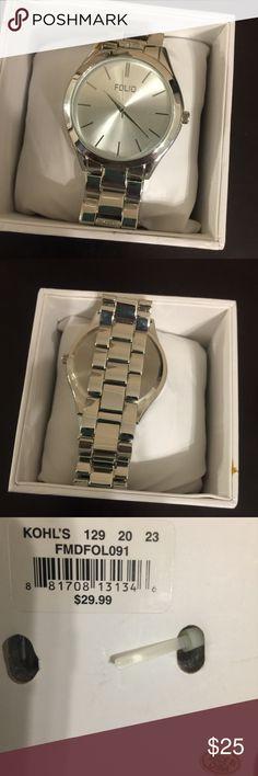 ❤Silver Watch❤️ Brand new ! In box. ❌No Trades❌ Folio Accessories Watches