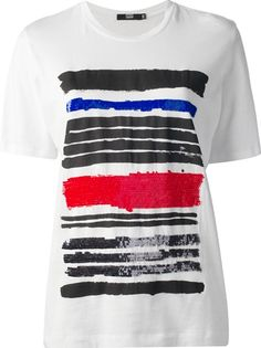 MARKUS LUPFER Brush Stroke Stripe T-Shirt
