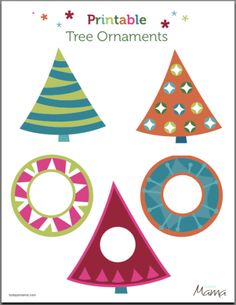Free Printable Ornaments - cute little frame ones