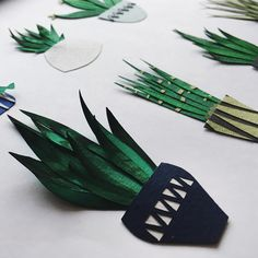cut paper cactus