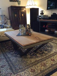 Couchtisch, Stahl, Edelstahl, Massivholz Table, Furniture, Home Decor, Stainless Steel, Decoration Home, Room Decor, Tables, Home Furnishings, Home Interior Design