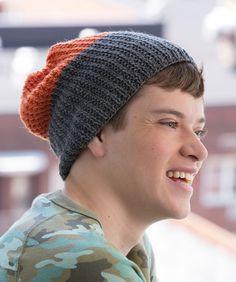 Strickmuster für Zweifarbige Mütze für Männer