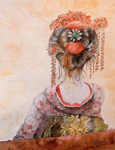 artistic geishas | Geisha Painting by Ciocan Tudor-cosmin - Geisha Fine Art Prints and ...