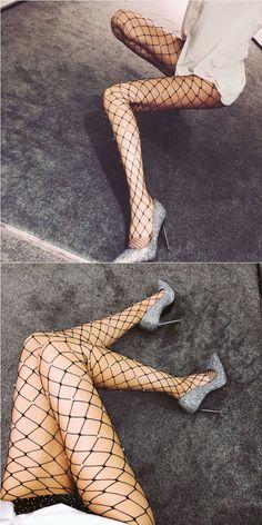 Sexy Diamond Hollow Grid Leggings Fischernetz Dessous Strümpfe #stocking #lingerie Nylons, Stocking Tights, Leggings, Sexy Stockings, Sexy Lingerie, Grid, Diamond, Women, Fashion