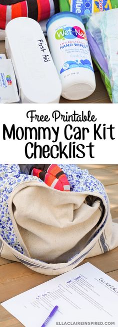 A necessity for all of that back-to-school running around with all of the little essentials! Free Printable Mommy Car Kit Checklist. #showusyourmess #ad #pmedia