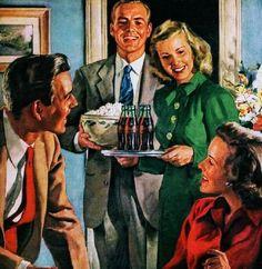 Vintage Coca~Cola ad.