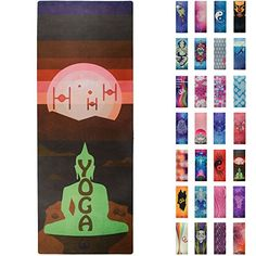 Soul Obsession Yoga Mat Microfiber Printed Design with Bu...