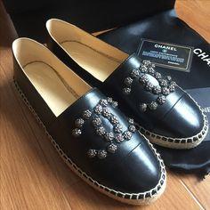 Chanel espadrilles woman shoes leather flats