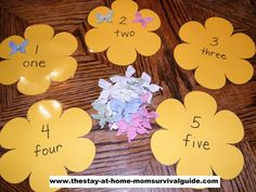 : Spring counting/number activities