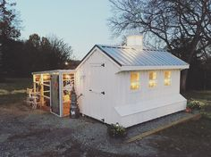 Cluckingham Palace - 7x12 Chicken Coop with feed room, metal roof, cupola, and 10x15 run area