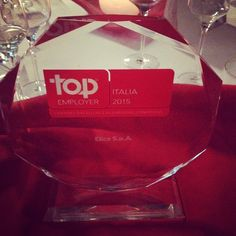 Live from ‪#‎TopEmployer‬ Award Ceremony 2015 ‪#‎Elica‬ has been awarded for the seventh time in a row ‪#‎arianuova‬