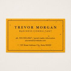 business card for english tutor simple professional orange with border texture business card reheart Gallery
