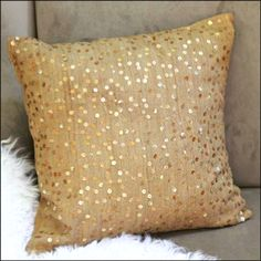 Gold pillow.