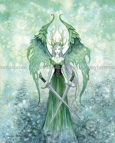 Vengeance fairy 8X10 PRINT by Amy Brown