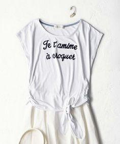 31 Sons de mode  / 裾結びロゴT(Tシャツ・カットソー) Tank Tops, Clothes, Logo, Women, Design, Fashion, Outfit, Moda, Halter Tops