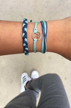 Pura Vida Bracelets - End of February member club Purvida Bracelets, Summer Bracelets, Bracelet Crafts, Anklet Bracelet, Anklets, Handmade Bracelets, Necklaces, Beach Jewelry, Cute Jewelry