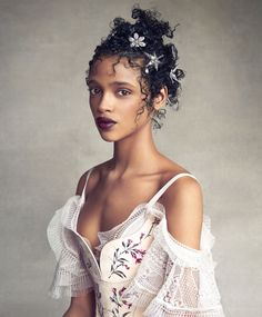 """midnight-charm:  """"Dress the Part""""   Aya Jones photographed by  Patrick Demarchelier for Vogue US May 2016   Fashion Editor: Phyllis PosnickHair: Julien D'ysMakeup: Dick Page"""