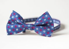 Vintage Men's Bow Tie  Bowtie Neck Bow Navy Red White  by 4Rooms