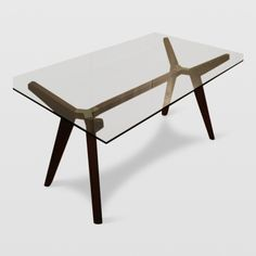 Modern Glass Dining Table from Crate