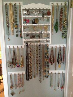 Jewelry wall The Flower City Fashionista: Obscenity  *I might actually wear my jewelry