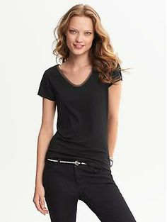 Tulle-Trim Tee | Banana Republic
