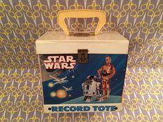 Vintage 1980s Star Wars Record Tote record storage box 45 Platter Pak lp vinyl carrier case