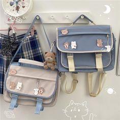 Stylish School Bags, Cute School Bags, Cute School Supplies, Cute Backpacks For School, Cute Mini Backpacks, Kawaii Bags, Kawaii Clothes, Kawaii Fashion, Cute Fashion