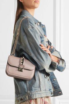 Valentino | Lock small leather shoulder bag | NET-A-PORTER.COM