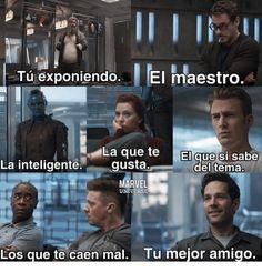 Marvel Jokes, Avengers Memes, Marvel Funny, Funny Spanish Memes, Spanish Humor, Stupid Funny Memes, Mundo Marvel, Best Memes, Really Funny