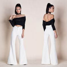 FLARED HIGH WAISTED PANTS Jumpsuit, Clothes For Women, Party, Collection, Dresses, Fashion, Overalls, Outerwear Women, Vestidos
