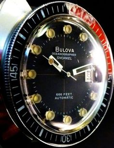 PRICE-DROP-Bulova-Oceanographer-Snorkel-Watch-Mens-Vintage-AUTOMATIC