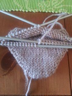 Strikk til flappen er 5 cm høy (str eller 6 cm høy (str Knitting Socks, Leg Warmers, Knitting Patterns, Diy And Crafts, Gloves, Slippers, Fingers, Tricot, Dressmaking