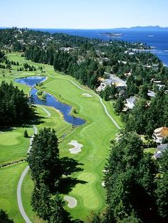 Fairwinds Golf Club in Nanoose Bay near Parksville, BC on Vancouver Island West Coast Canada, Best Golf Courses, Next Holiday, Vancouver Island, Life Is Like, Island Life, British Columbia, Outdoor Activities, The Good Place
