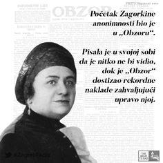 """Godine 1896. u Obzoru izlazi njezin prvi članak, """"Egy percz"""" (""""Jedan časak""""), u kojemu na domišljat način govori o mađarizaciji Hrvatske. Nakon toga, na preporuku Strossmayera, ulazi u redakciju Obzora kao referent za mađarsko-hrvatsku politiku."""