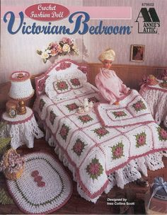 Documents - vera brierley - Picasa Web Albums...Doll's Victorian bedroom set to crochet..What a lovely gift this would make!!