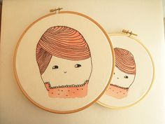 The Onions Embroidery  and watercolored Hoop Wall by Lanapelana, $40.00