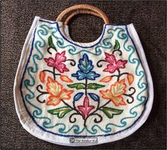 Cotton Bag, Colorful embroidery, Cewel work