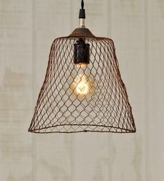 Image result for huge rattan wicker pendant light   lamps     Decoration Ideas  Hanging Industrial Light Vintage Metal Wire By  TinkerLighting  Fancy And Unique Hanging Lamps Decoration