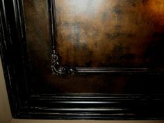 Bronze Ceiling with Distressed Black Woodwork 2
