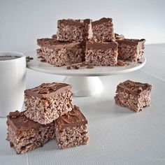 Coco Pops & marshmallow Krispies with nutella & chocolate icing