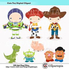 Cute toy Digital Clipart For Personal and Commercial Use / INSTANT DOWNLOAD