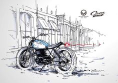 Thunder gn250 by Bad Winner's / sketch pencil 停下 享受不同的美景 ---------------------------------------- #motolifestyle #custom #custombike #sketchart #copicmarker #bobber #bratstyle #caferacer #motorcycle #moto #bike #ride #scrambler #tracker #oldschool #taiwan #art #design #record #bikerlife #tonup #kickcafe #taiwangearup #persist #design